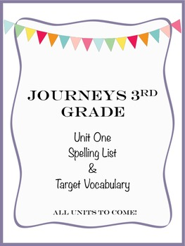 Journeys 3rd Grade Unit One