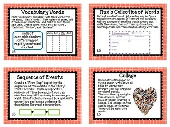 Journeys 3rd Grade Units 1-6 Full Year Task Cards Activities Bundle 2011
