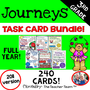 Journeys 3rd Grade Units 1-6 Early Finishers Task Cards 20
