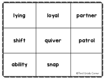 Journeys 3rd Grade Vocab Matching Game - Aero and Officer Mike