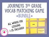 Journeys 3rd Grade Vocab Matching Game *BUNDLE*