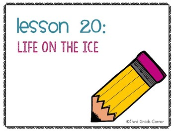 Journeys 3rd Grade Vocab Matching Game - Life on the Ice