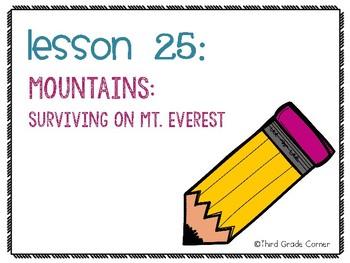 Journeys 3rd Grade Vocab Matching Game - Mountains: Surviving Mt. Everesst