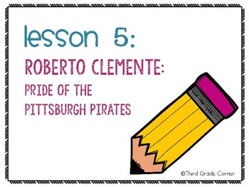 Journeys 3rd Grade Vocab Matching Game - Roberto Clemente