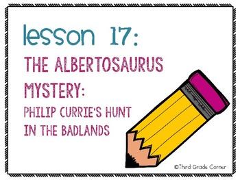 Journeys 3rd Grade Vocab Matching Game - The Albertosaurus Mystery