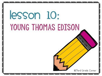 Journeys 3rd Grade Vocab Matching Game - Young Thomas Edison