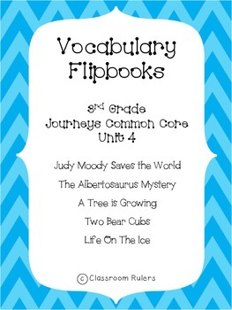 Journey's 3rd Grade Vocabulary Flip-books: Unit 4