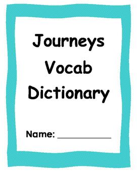 Journeys 3rd Grade Vocabulary Dictionary
