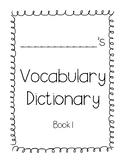 Journeys 3rd Grade Vocabulary Dictionary Book 1