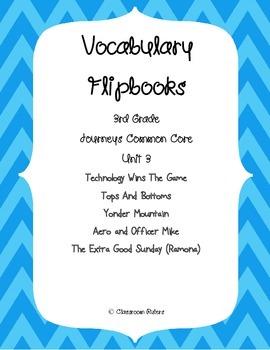 Journey's 3rd Grade Vocabulary Flipbooks: Unit 3