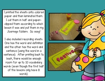 Journeys 3rd Grade Vocabulary Play-Doh Mats