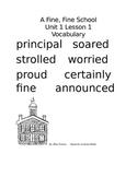 Journeys 3rd Grade Vocabulary Word Wall: A Fine, Fine School
