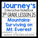 Journeys 3rd Lesson 25 Mountains Surviving on Mt Everest Interactive Notebook