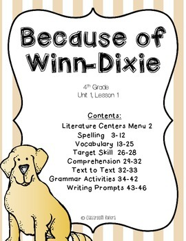 Journeys 4th Grade - Because of Winn-Dixie: Unit 1, Lesson 1