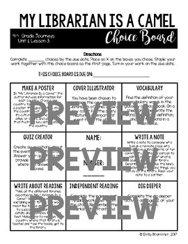 Journeys 4th Grade Choice Boards - ALL UNITS - GROWING BUNDLE