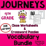 Journeys 4th Grade Cloze Worksheets-Crossword Puzzles Bundle 2011 (Full Year)
