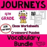 Journeys 4th Grade Vocabulary Activities Year Bundle   2011