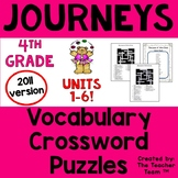 Journeys 4th Grade Crossword Puzzle Bundle Units 1-6 Full Year 2011