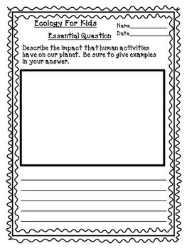 Ecology For Kids Journeys 4th Grade Unit 3 Lesson 15 Activities and Printables