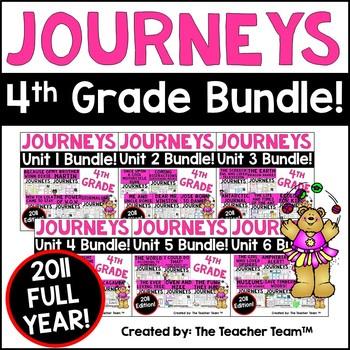 Journeys 4th Grade Reading Language Arts Units 1 - 6 Full
