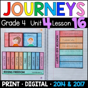 Journeys 4th Grade Lesson 16: Riding Freedom (Supplemental & Interactive pages)