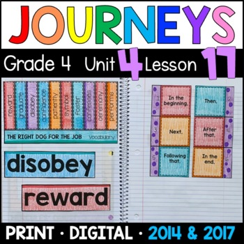 Journeys 4th Grade Lesson 17: Right Dog for the Job (Supplemental & Interactive)