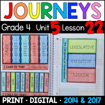 Journeys 4th Grade Lesson 22: I Could Do That (Supplemental & Interactive pages)