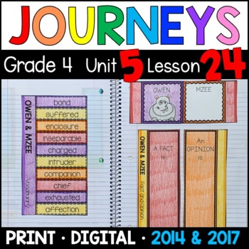 Journeys 4th Grade Lesson 24: Owen and Mzee (Supplemental & Interactive pages)