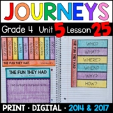 Journeys 4th Grade Lesson 25: The Fun They Had Supplemental & Interactive pages