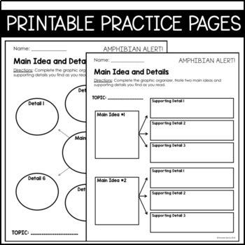 Journeys 4th Grade Lesson 27: Amphibian Alert (Supplemental & Interactive pages)