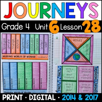 Journeys 4th Grade Lesson 28: Museums Worlds of Wonder Sup