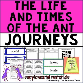 Life and Times of the Ant Journeys 4th Grade Unit 3 Lesson 14
