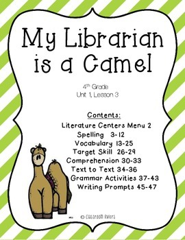 Librarian teaching resources teachers pay teachers journeys 4th grade my librarian is a camel unit 1 lesson 3 fandeluxe Images