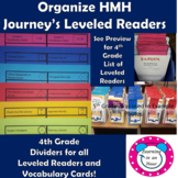 Journey's Lessons: Organization 4th Grade Dividers for Lev