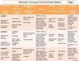 4th Grade Journeys Planner