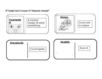 "Journeys 4th Grade Reading Series Vocabulary Dominoes ""Antarctic Journal"""