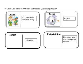 "Journeys 4th Grade Reading Series Vocabulary Dominoes ""Com"
