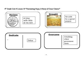 "Journeys 4th Grade Reading Series Vocabulary Dominoes ""Harvesting Hope..."""