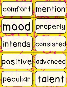 Journeys 4th Grade Selection and Domain Vocab for Word Wall: Colorful Bandana
