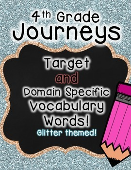 Journeys 4th Grade Selection and Domain Vocab for Word Wall: Glitter