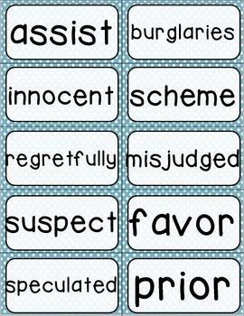 Journeys 4th Grade Selection and Domain Vocab for Word Wall: Polka Dot