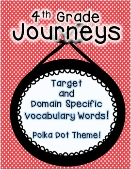 Journeys 4th Grade Selection and Domain Vocab for Word Wal