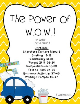 Journeys 4th Grade - The Power of W.O.W.!: Unit 1, Lesson 4