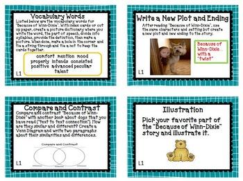 Journeys 4th Grade Unit 1 Task Cards Supplemental Materials 2011