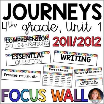 Journeys 4th Grade Unit 1 FOCUS WALL Supplement 2011/2012
