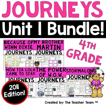 Journeys 4th Grade Unit 1 Supplemental Activities & Printables 2011