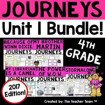 Journeys 4th Grade Unit 1 Supplemental Activities & Printables 2017