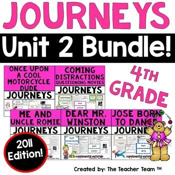 Journeys 4th Grade Unit 2 Supplemental Activities & Printables 2011