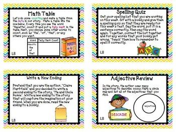 Journeys 4th Grade Unit 2 Task Cards Supplemental Materials  2011