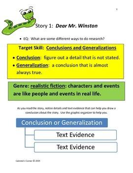 Journey's 4th Grade:  Unit 2, Lesson 9 Dear Mr. Winston